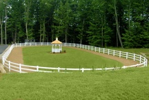 Horse exercise areas