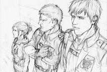 Shingeki no Kyojin; Annie, Reiner, Bertholdt
