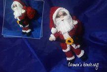 Crăciun / Ornamente pentru bradul de Crăciun, croșetate manual.