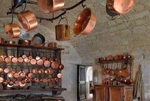 Copper In My Kitchen / The copper in my kitchen has , by far, exceeded the boundaries of the kitchen. / by Linda Dennis