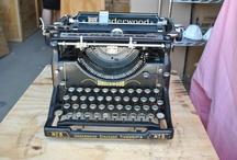 TYPEWRITERS / Love the look of old typewriters.
