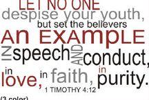 Scriptures/Insprirational Phrases
