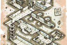 RPG Maps / Mappe per GdR di città, dungeons e altro