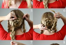 Hair styles for long hair / Different ways to fix your daughter or your hair besides a pony tail