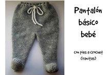 pantalon bebe crochet
