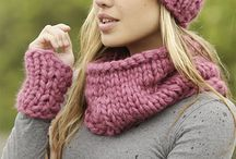 Knitted Hat Cowls Hand Warmers