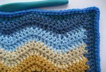 Ripple blanket doing the straight and side edges