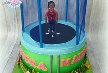 trampoline cake for jay