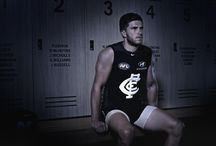 150 years in the making / The 2014 heritage strip pays homage to the guernsey Carlton's players wore with distinction from 1927 – 1997.  It will be worn three times in Season 2014; Rd 7 against Collingwood, Rd 13 against Hawthorn and Rd 23 against Essendon.  While the design represents the past, it also delivers the most innovative technological advancements in AFL history for an on-field product.