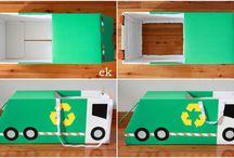 Shoe box crafts car
