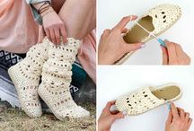 Crocheting shoes