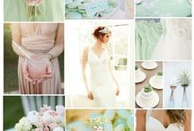 Pistachio and dusky rose wedding theme / Wedding theme colours, pink and green
