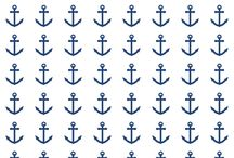 FREE printable nautical anchor pattern paper / FREE printable nautical anchor pattern paper