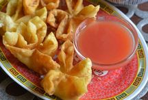 won ton, crab rangoon
