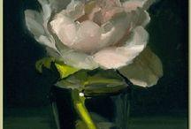 maľované kvety
