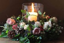 Christmas / Christmas gift and home ideas incorporating festive flowers.