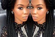 Afro puff hair / Afro hair style / by Kamla Dulcio