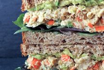 Vegan Sandwiches / Quick and easy, cold, grilled or raw vegan sandwich recipes for your lunches. Healthy topping, filling and spread ideas for the perfect plant based sandwich on the go!