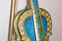 The Fine Art of Music, Painted Violins / Examples of painted artistry on violins. Included are a few of my own pieces I have painted