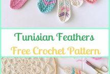crochet feathers n misc