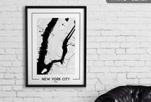 City map posters, wall art, decor / Get beautiful black and white minimalist map posters of your favourite city or place. Check out our shop where you can buy both physical posters and digital prints: https://www.etsy.com/shop/MinimalMapDesigns