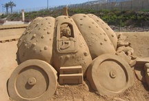 Of Sand, Snow, or Ice! / Sculptures made of sand, ice, or snow