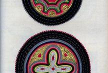 Kalmyk costume, pattern, print
