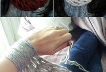Knitting -- Alternate Methods / Arm knitting, finger knitting, spool knitting and the like . . .