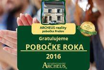 Ocenenia ARCHEUS / Keď sa snažíme, darí sa! Ale niektorým viac...Pozrite si ocenenia, ktoré u nás získavajú pobočky a makléri.