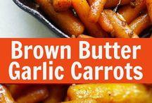 brown butter garlic honey roasted carrots