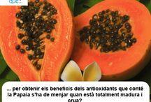 Papaia / Papaya  / Aquí trobaràs curiositats sobre la papaia / Aquí encontrarás curiosidades sobre la papaya