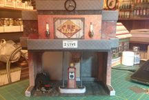 3D Builds: Maple Street Gas Station / 3D Builds: Maple Street Gas Station designed by Laura Denison Designs and created by Angelic Creations LLC be sure to follow us at www.facebook.com/AngelicCreationsLLC