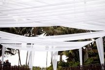 outdoor wedding shade ideas