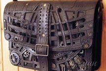 steampunk tas-riem-bracer-handschoenen