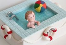 Торты в виде бассейна