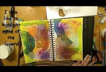 Art journaling/altered books
