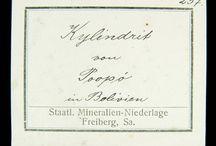 Mineralien Fundortzettel / Hier findest Du eine Sammlung alter Fundortzettel von Mineralstufen aus historischen Sammlungen.