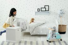 Monochrome children's bedroom