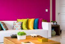 Bright pink wall