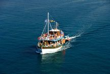 """THASSOS sailing with Capt.Vassilis's tourist boats / Daily boat trips in Thassos, with the traditional greek wooden boat """"AXION ESTI"""" and the sailing yacht """"LADY"""",to the most secluded beaches of Thassos Island.Join us and have the best day of your holiday."""