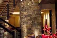 High ceilings house stone