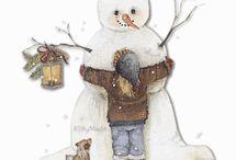 Hóemberek- snowman. / Snow..
