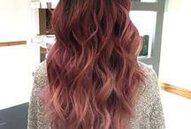 Dusty Rose hair