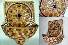 Mozaik falikutak / Mosaic drinking fountains by Rekredenc / mosaic