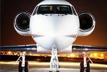 Luxury in the Skies / Comfort and style in the air - private and commercial planes.