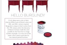 Burgundy - kolor tygodnia/colour of a week- Chalk Paint decorative paint by Annie Sloan