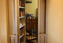 Bookshelves/reading spaces