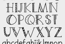 Handlettering alfabet