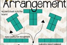 classroom desk arrangements / by Sandie Spangler