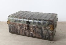 Steamer Trunks and Lugagge / Antique steamer trunks and other luggage, dating back 70+ years.